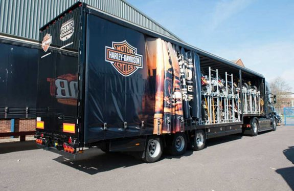 Harley Davidson demo truck